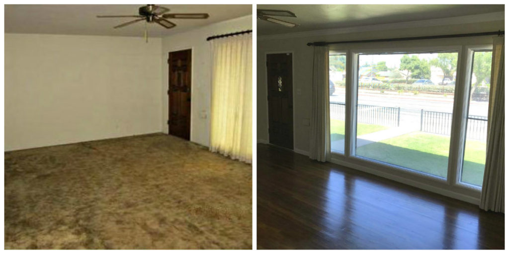 livingrm before and after