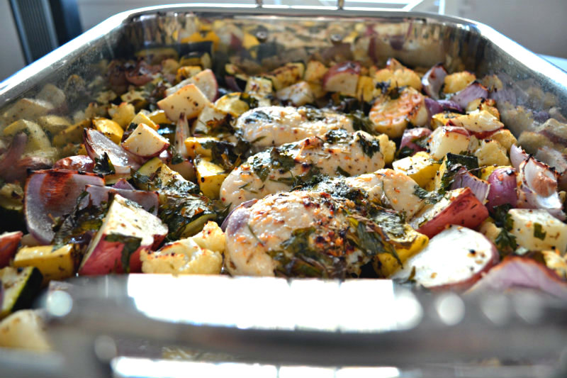 Chicken Breasts Baked With Vegetables