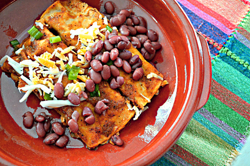 Enchiladas and Beans