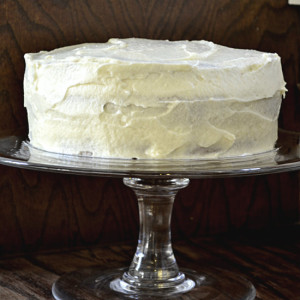 Cream Cake with White Chocolate Frosting