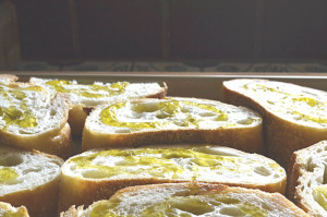 Toasted Bread with Olive Oil