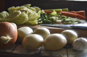 Fresh Ingredients for Basque Vegetable Soup