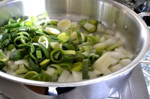 Leeks for the Basque Vegetable Soup