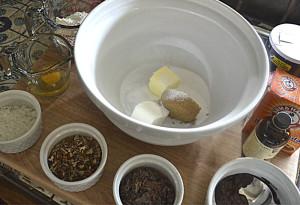 Ingredients for the German Chocolate Cake Cookies
