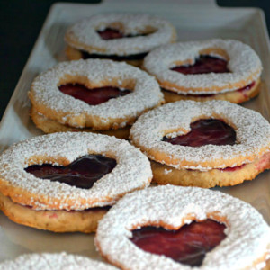 Oatmeal Raspberry Valentine's Day Cookies