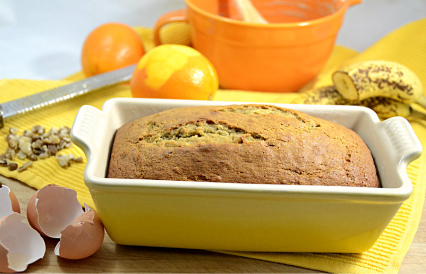 Hint of Orange Banana Nut Bread