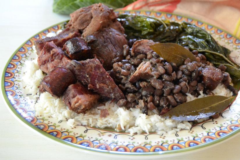 Portuguese Black Beans (Brazilian Feijoada) - kitchengetaway ...
