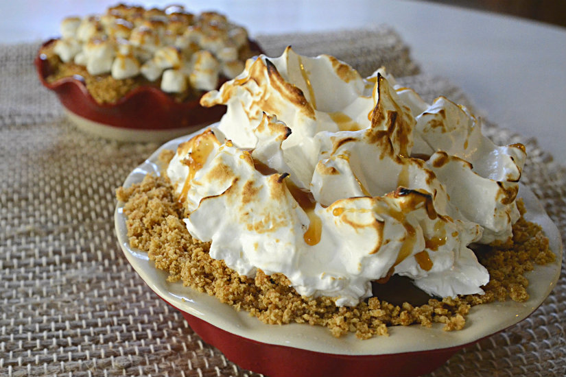 No Bake Pumpkin Pie and Italian Meringue