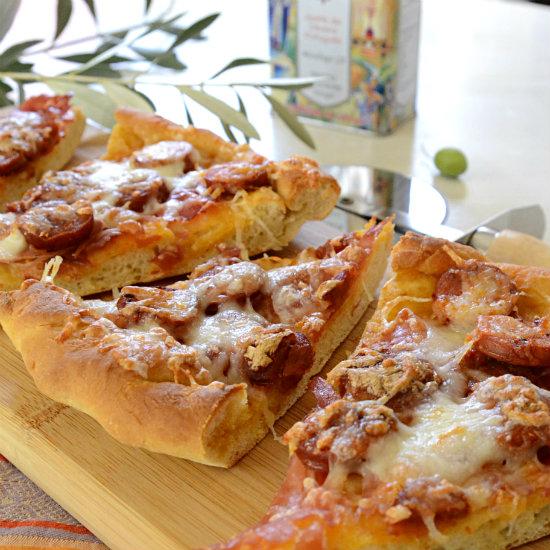 Linguica Prosciutto Pizza