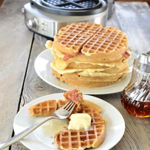 Bacon Pecan Maple Buttermilk Waffles