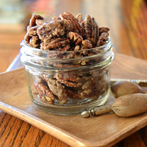 Candied Pecan Topped Candied Yams