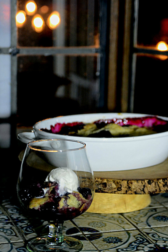Port Wine Blackberry Cobbler | kitchengetaway.com
