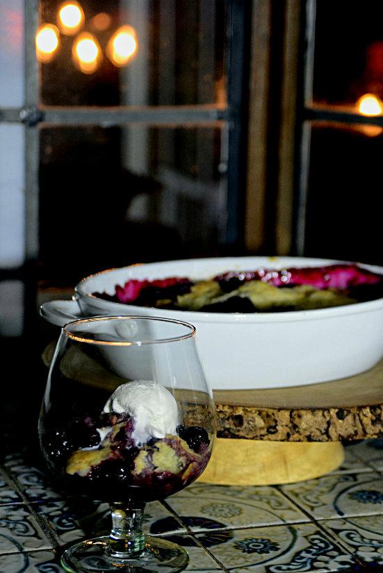 Port Wine Blackberry Cobbler - kitchengetaway.comkitchengetaway.com