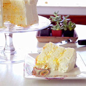 Pineapple Cream Angel Food Cake