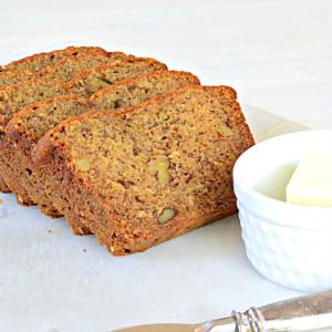 Whole Wheat and Honey Banana Bread