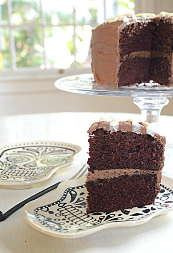 Coffee Rich Devil's Food Cake