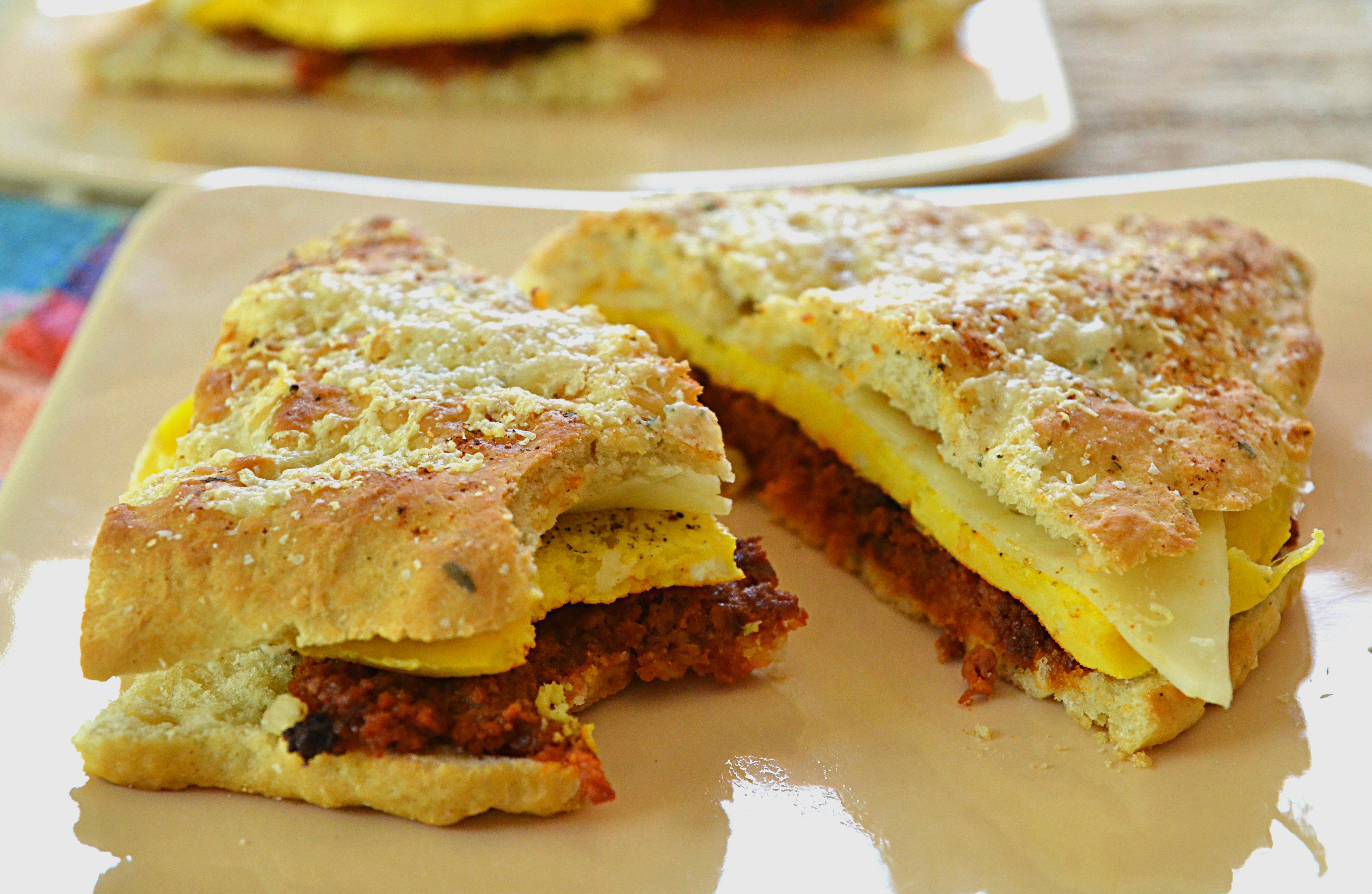 Focaccia Chorizo Breakfast Sandwich