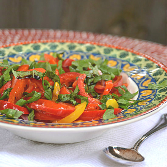 Red and Yellow Pepper Salad