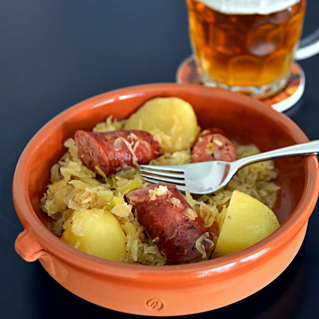Portuguese Sausage and Sauerkraut