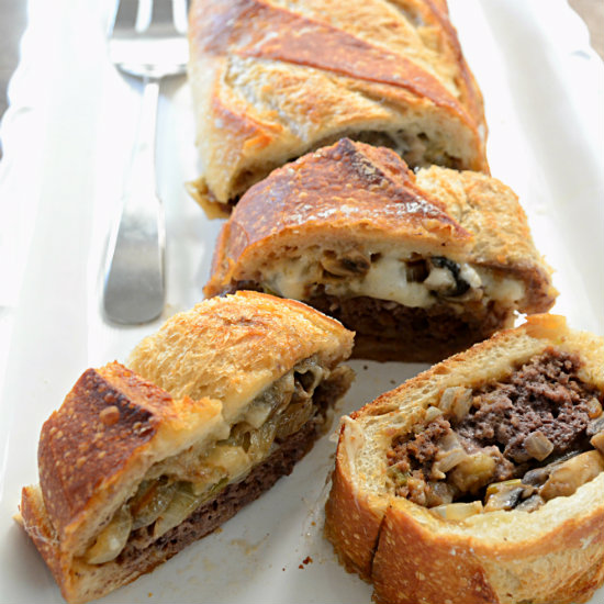 Meatloaf Stuffed French Bread