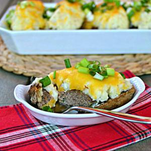 Meatloaf Stuffed Potatoes