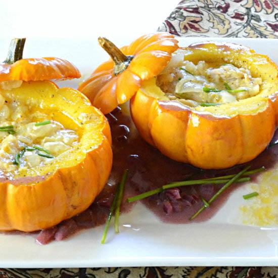 Stuffed Baby Pumpkins