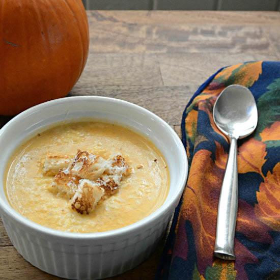Pumpkin Parmesan Cream Soup