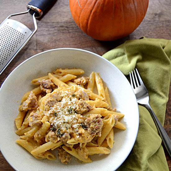 Pumpkin Parmesan Cream Pasta Sauce