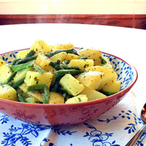 Dijon Potatoes with Green Beans
