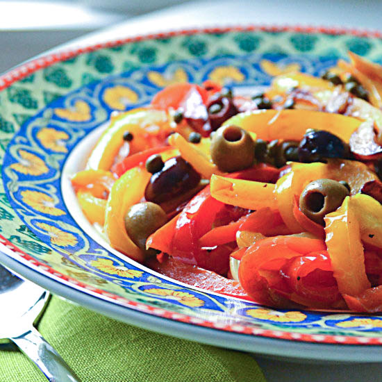 Peppers, Olives and Capers
