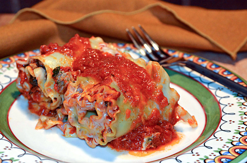 Meat or Meatless Lasagna Rolls