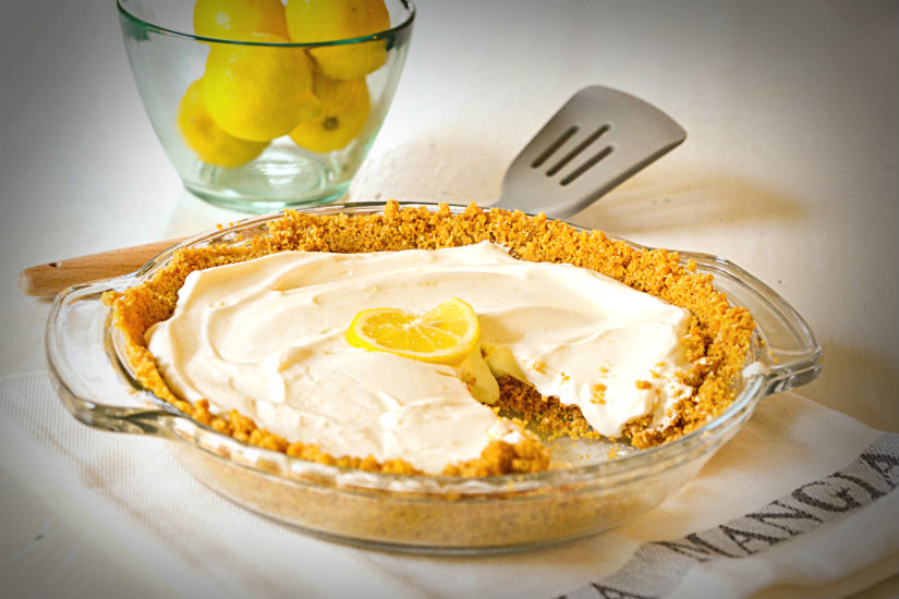 No Cook Lemon Cheesecake Pie