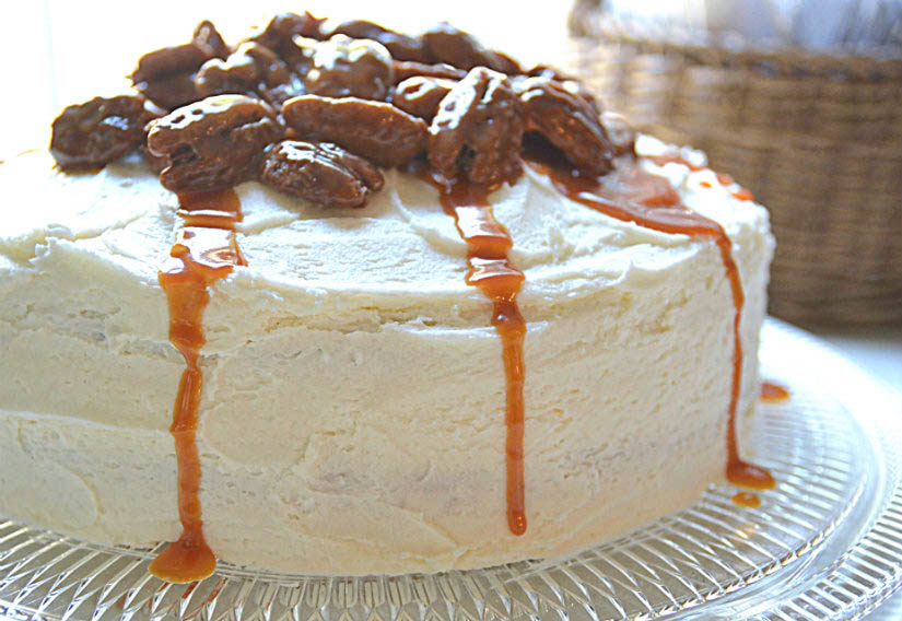 Chai Cake with Pecan Topping